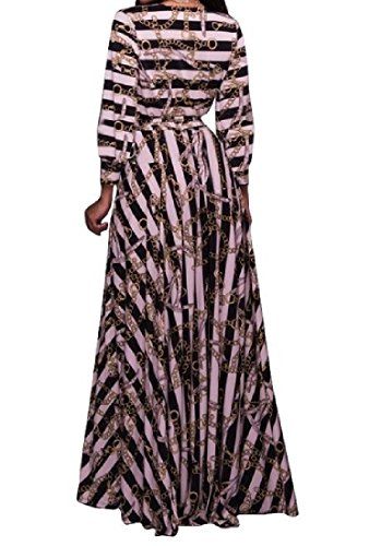 Maxi Swing Digital Printed Bussiness Neck Coolred V Dress Women's As1 Party 01CHFw1x8q
