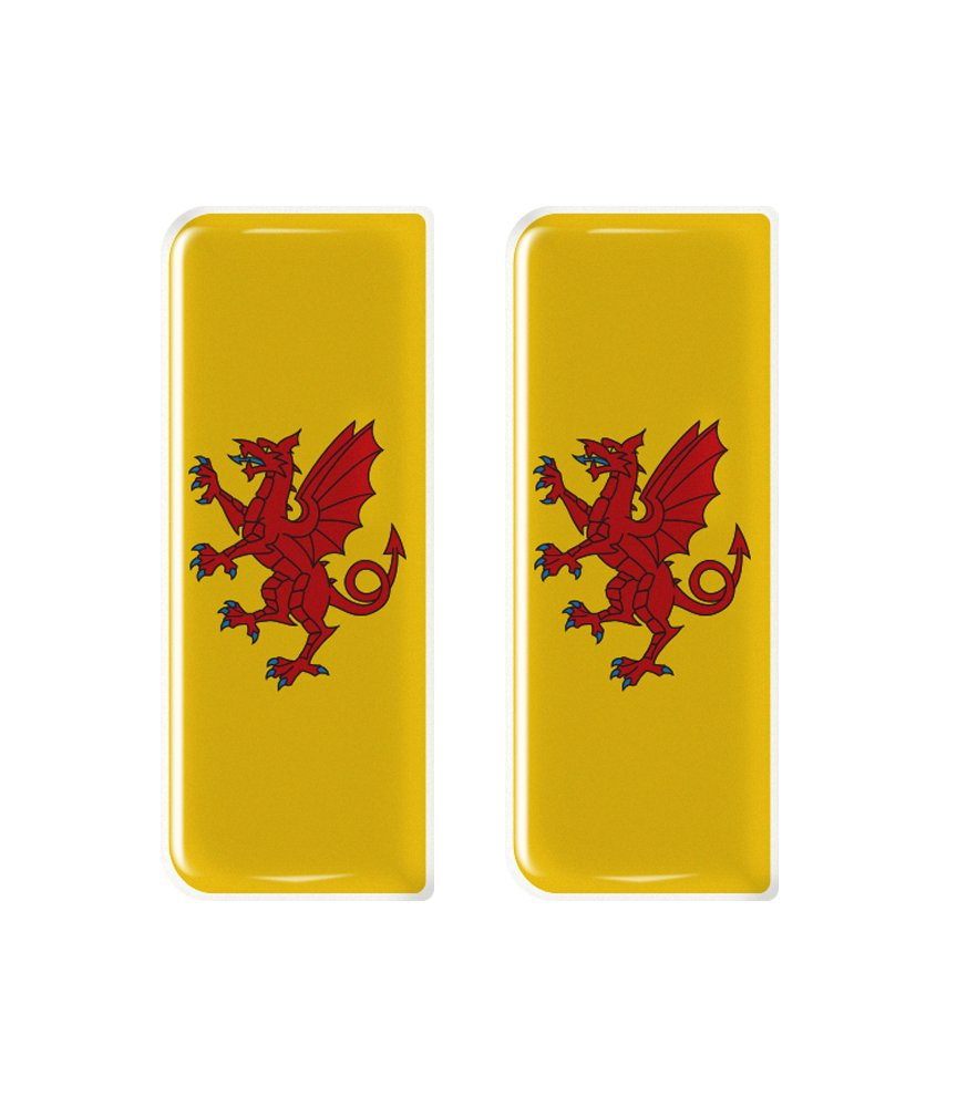 Somerset County Flag Number Plate Decals