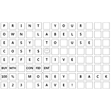 """Square Stickers 1/2"""" x 1/2"""" (half inch)- Do it yourself. Print your own square labels - Inkjet / Laser. User friendly Easy to use with Microsoft word. TEMPLATE Included--1185 pack"""