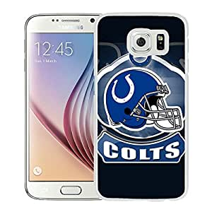 Indianapolis Colts 19 White Fashionable Design Samsung Galaxy S6 G9200 Plastic Case