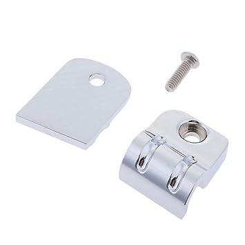 Sharplace Clips de Abrazadera de Cable de Acelerador/Embrague Color Plata Duro