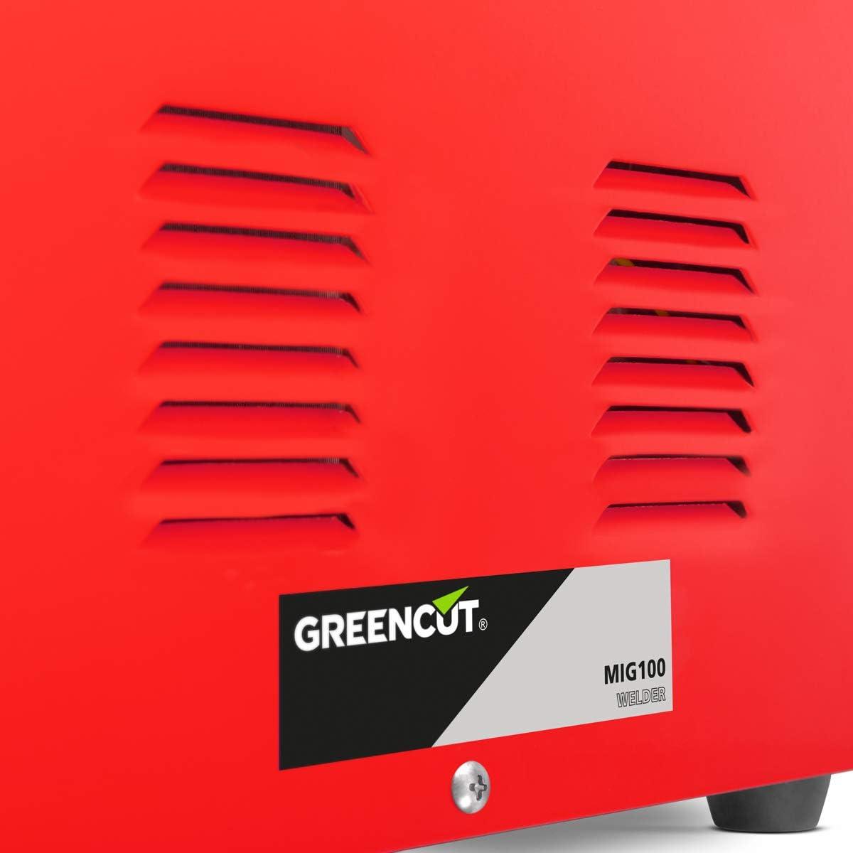 Greencut MIG-100 Poste a souder Inverter 120A Turbo-ventil/é Fil continu Orange