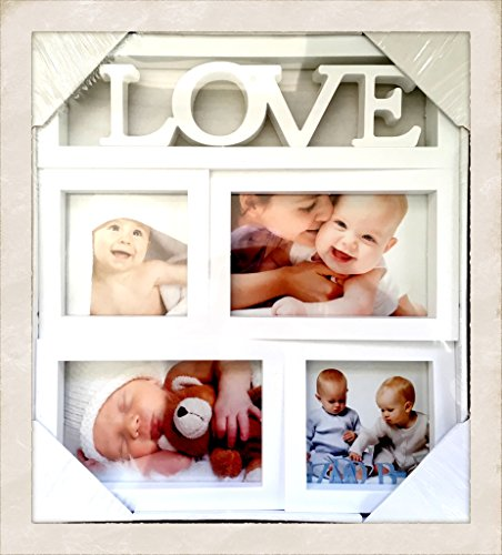 American West Picture Frame - An American Company Love 4 Picture White Frames