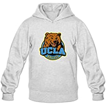 Ucla Bruins Logo 100% Cotton Hoodies For Man's Ash XXL Simple Style Hoodies