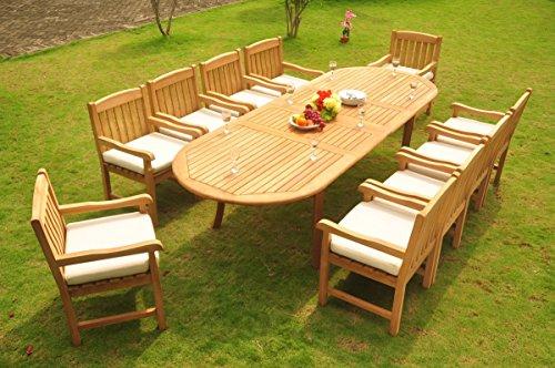Grade-A Teak Wood Dining Set 10 Seater 11 Pc: 117