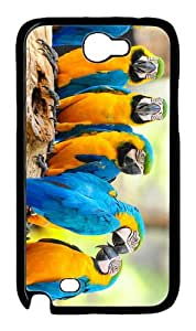 popular case lovely macaw parrots PC Black case/cover for samsung galaxy N7100/2