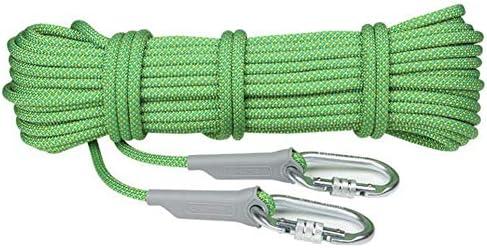 クライミングロープ、クライミングセーフティ耐久性のあるロープ、安全ロック付きの重いロープ、ジムのトレーニングのため、フィットネス、バトル、エクササイズ,Green,10.5mm70m