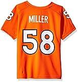 NFL Boys 4-7 Von Miller Denver Broncos Player Name & Number V-Neck Tee, Medium/(5-6), Orange