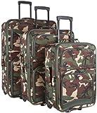 Ever Moda Camo 3-Piece Luggage Set (Green)