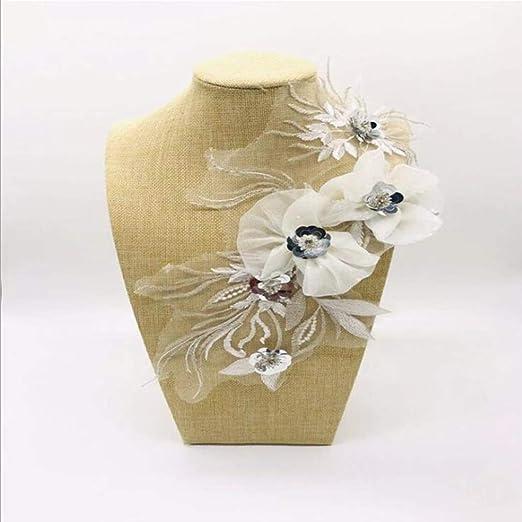 Weisin Punta Flor Patch Ideal para DIY Decorado artesanía Coser ...