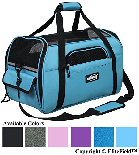- EliteField Soft Sided Pet Carrier (3 Year Warranty, Airline Approved), Multiple Sizes and Colors Available (Medium: 17