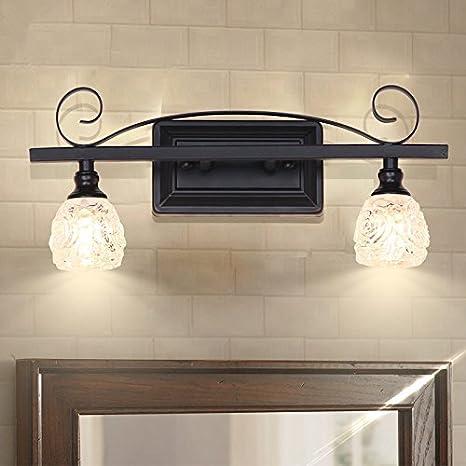 TYDXSD Luz del espejo americana Baño Baño rústico muro de hierro LED lámpara  de pared retro moderno y simple anti-espejo 6eb8eaf8467d