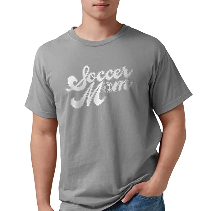 c04ed0e28 Image Unavailable. Image not available for. Color: CafePress Soccer Mom  Mens Comfort Colors Shirt