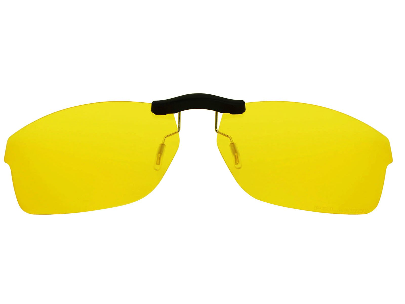 Custom Fit Polarized CLIP-ON Sunglasses For Oakley Crosslink OX8030 55X18 HD Yellow by COODY