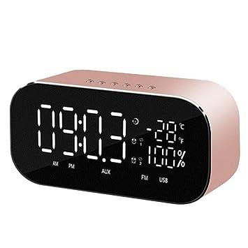 Alarm clock Despertador Bluetooth Altavoz De Radio Reloj Electrónico Simple Luminoso Habitación De Noche Mudo Multifunción Música Digital Reloj De Carga ...