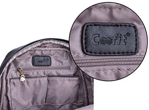 78d4ae27f9b9b ... Coofit Damen Leder Rucksack Handtaschen Damen Tagesrucksäcke  Mädchengymnasium Vintage Reisetasche (Large