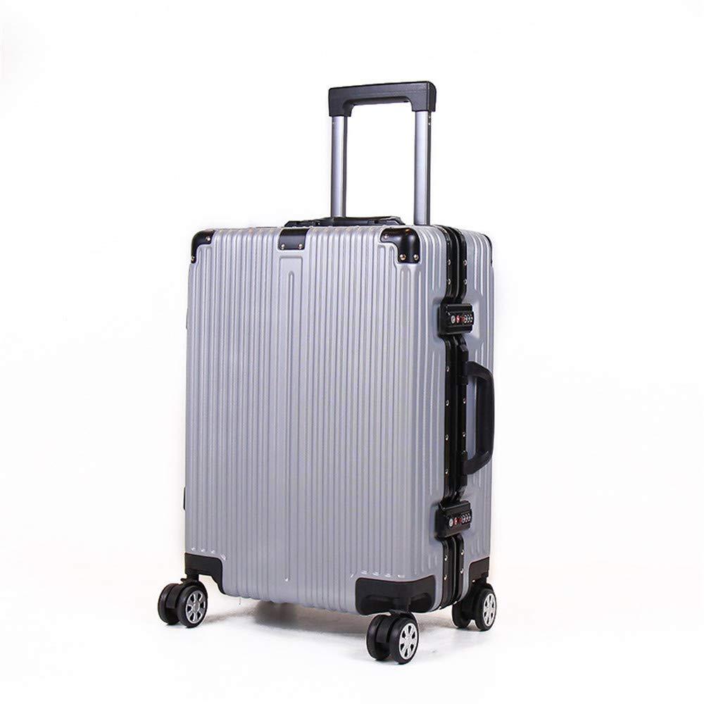旅行用品荷物スーツケーストロリーケース 優れた回転25インチのアルミニウムフレームの引き棒箱、荷物の学生旅行二重ロックパスワード箱 B07S7TB9WM