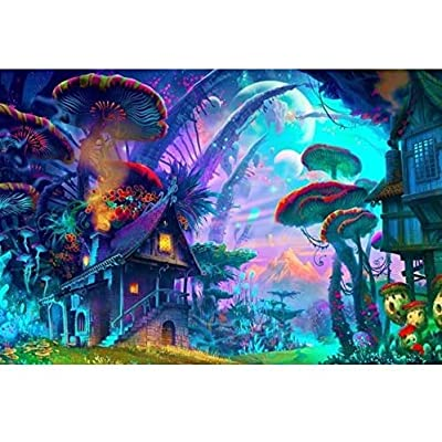 NA Jigsaw Puzzle 1000 Piece Poster Psychedelic Trippy Colorful Ttrippy Surreal Abstract Astral Art Office Home Room Wall Decor: Toys & Games