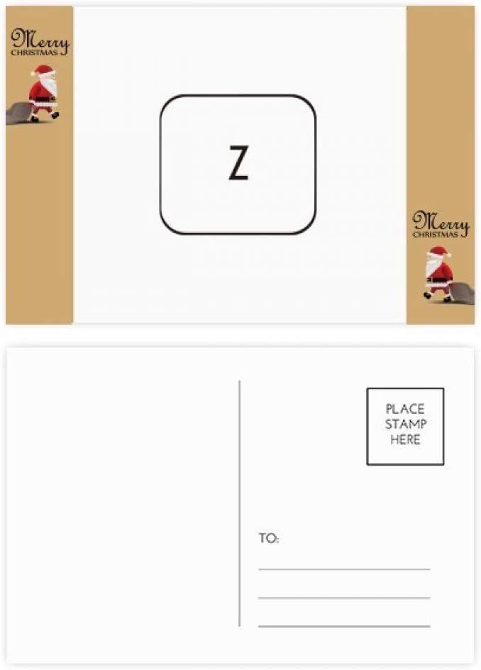 Símbolo del teclado Z Santa Claus regalo postal tarjeta de ...