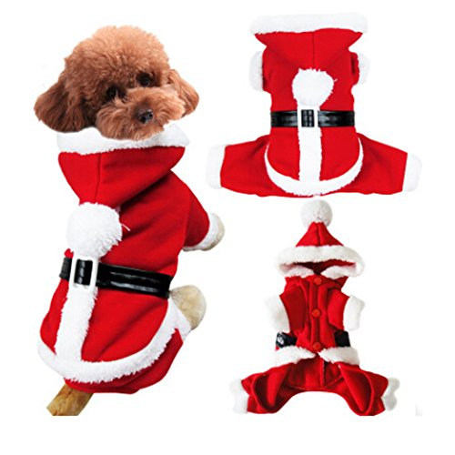 Fashion Pet Puppy Hoodie Sweater, Winter Autumn Soft Cozy Warm Thick Coral Fleece Dog/Cat Pet Coat Cold Weather Hooded Jacket Christmas Halloween Reindeer Costume Apparel Clothes Jumpsuit (Halloween Costumes For Hot Weather)
