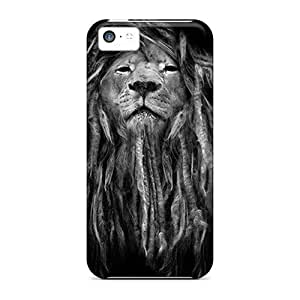Protection Case For Iphone 5c / Case Cover For Iphone(rasta Lion)