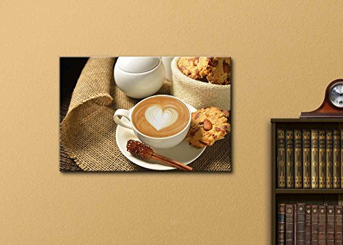 a Cup of Cafe Latte and Cookies Wall Decor