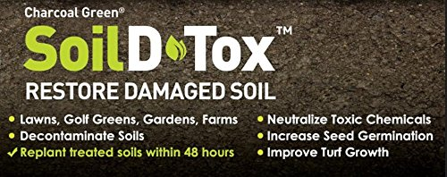 5 Gallon Pail Charcoal Green Soil D•Tox Wood Based Powder Agricultura, Organic Gardening, Naturally Remove Toxins, decontaminates soil , Easy to use, Safe & Effective