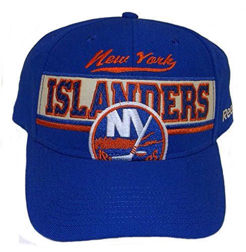 New York Islanders Reebok NHL Structured Adjustable NY Blue Hat Cap OSFA