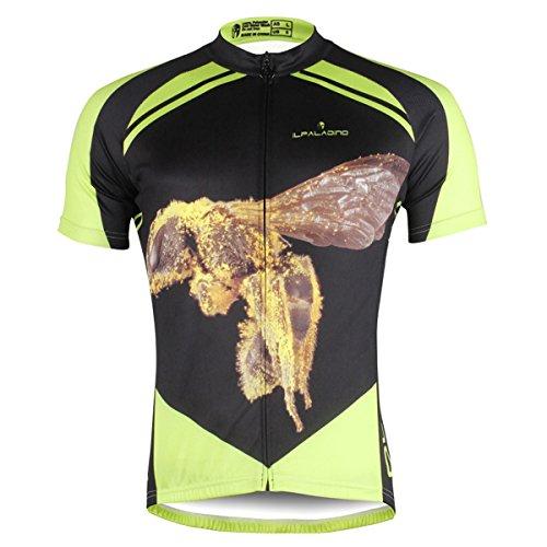 (ILPALADINO Men's Cycling Jersey Short Sleeve Biking Shirts Animals Pattern (L,)