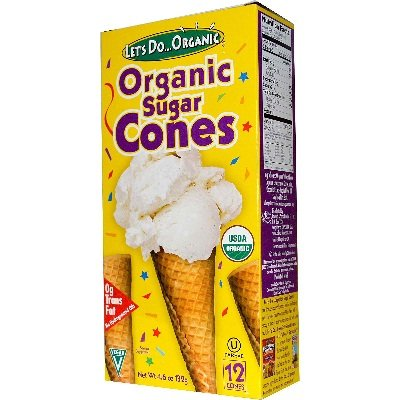 Lets Do Organics Sugar Cones  4 6 Ounce Boxes  Pack Of 12