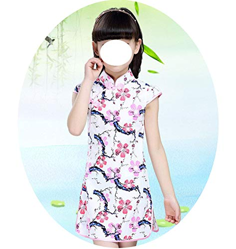 Baby Girls Dresses Chinese Traditional Style Cheongsam Costume Children Clothing,Style Fifteen,14]()