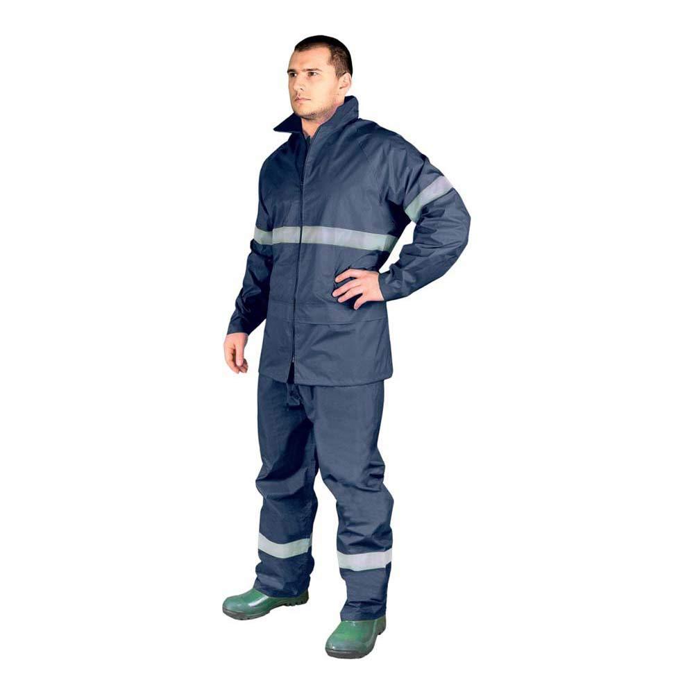 para hombre M Traje impermeable azul marino de alta visibilidad