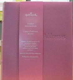Hallmark Pink Leather Address Book