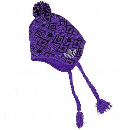 3c93024b5e148 Amazon.com : adidas Men's Ice Cap Earflap Knit Beanie Blast Purple ...