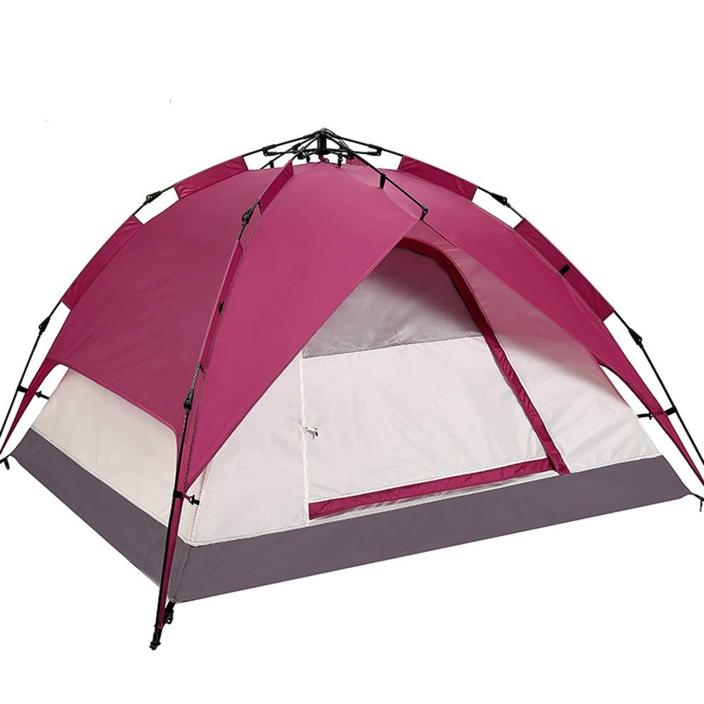 HUIYUE 3-4 Personen Outdoor-Camping-Zelte,Strandzelt,Automatische Geschwindigkeit Zelt öffnen,Camping Regendichte Doppelte Zelte-A 220x200x120cm(87x79x47inch)
