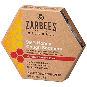 Amazon.com: zarbee Naturals Miel de la Tos chupetes, cereza ...