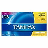 Tampax Tampons Regular Absorbency Unscented - 108 Tampons
