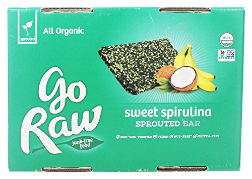 Go Raw - Organic Sprouted Bars Box Sweet Spirulina - 25 Bars by Go Raw (Image #2)
