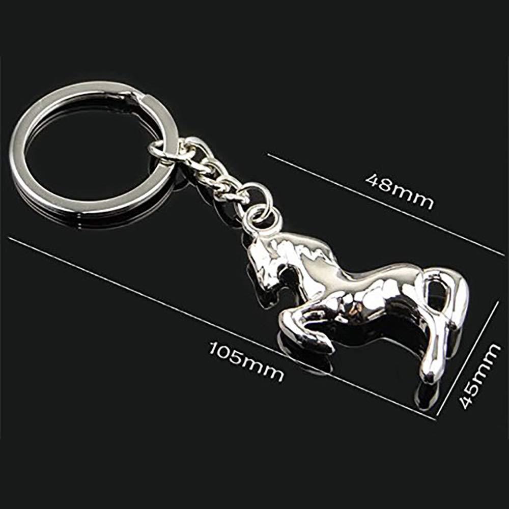 Jungen cavallo portachiavi portachiavi piccolo animale portachiavi ciondolo borsa auto ornamenti in lega pezzo