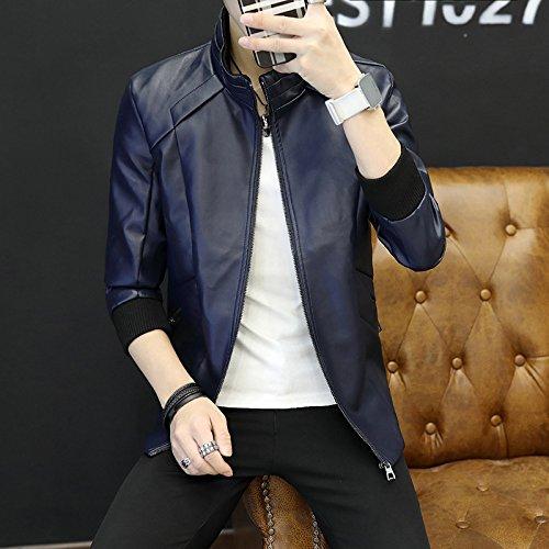 Uomo Autunno Casual Uomini Giacca Versione Coreana Di Tendenza Molla Elegante Della Gioventù, Il Blu Scuro Serie L