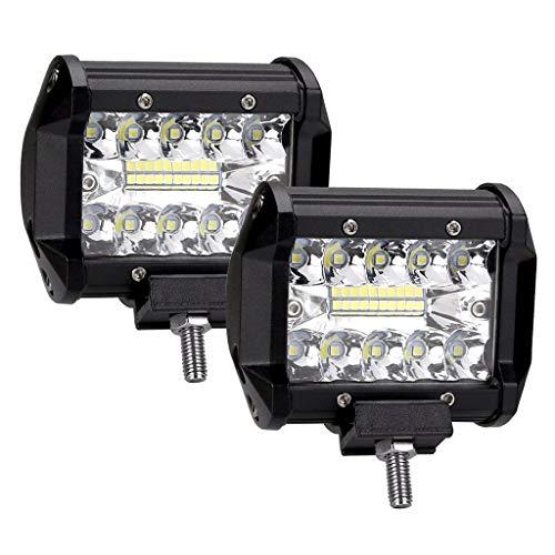 Lnicesky,60W 2Pcs 5 Inch LED Work Light Spotlight Off-Road Driving Fog Lamp Truck Boat Black