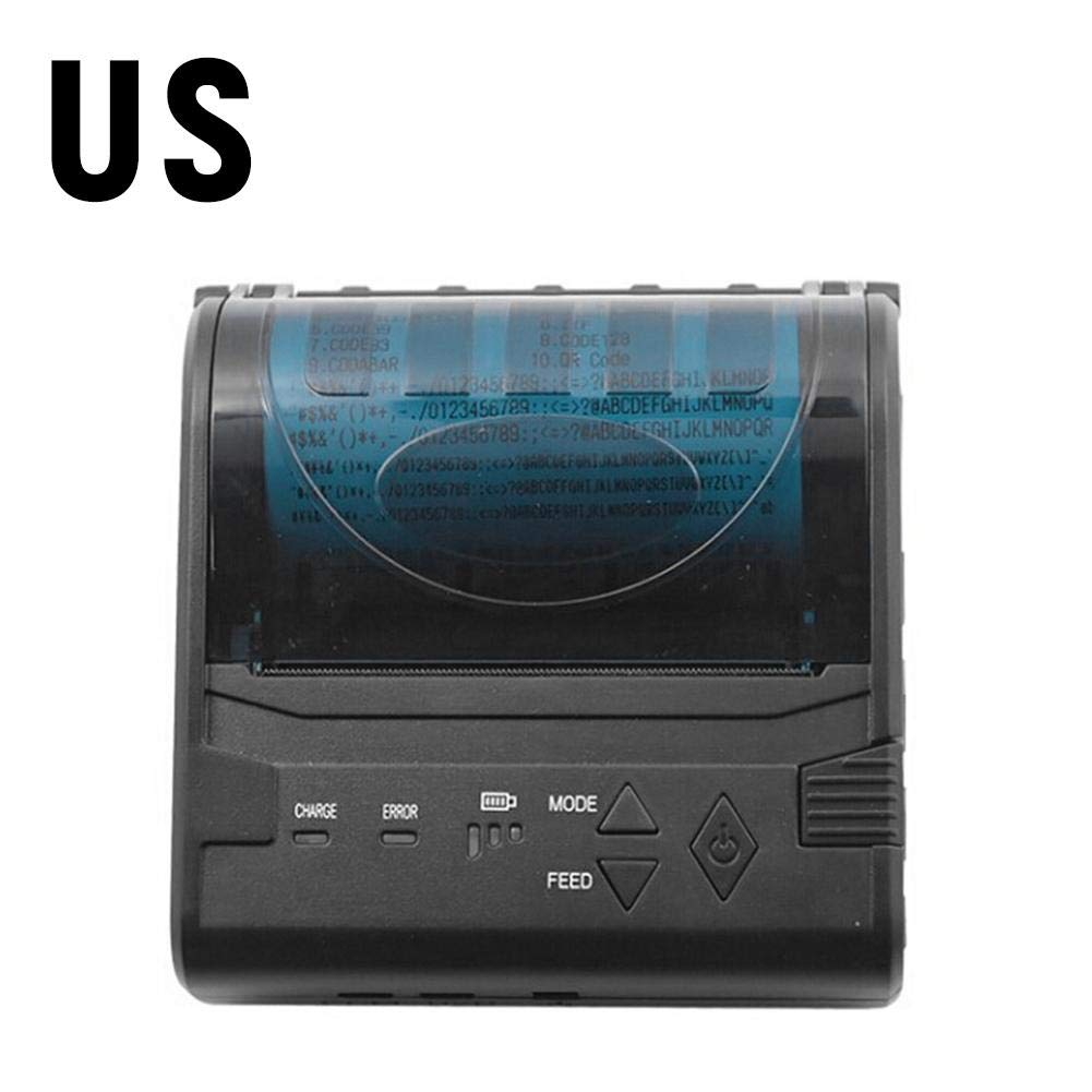 80MM Thermal Printer Support Windows Bluetooth and USB Black 7 Android and 1 IOS Wireless by Oshide (Image #1)