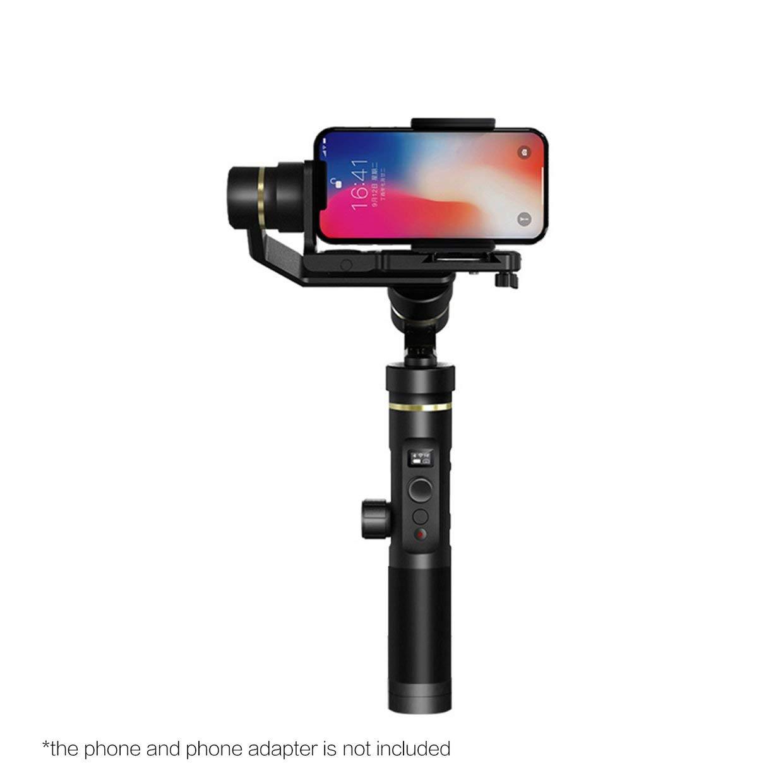 FeiyuTech G6 Plus 3軸OLEDハンドヘルドアクションカメラWiFジンバルスタビライザ(ブラック)   B07GVGWJ17