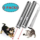 JJYPet Cat Laser Pointer,2 in 1 Cat Catch the Led Light Toy,Cat Interactive