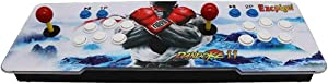 Ezcpigei 3399 Arcade Video Games Console, Pandora's Box 11 Multiplayer Home Joystick Arcade Console, Customized Buttons, 1280x720 Full HD, Support PS3, Compatible with HDMI and VGA (White)