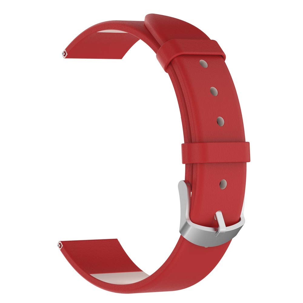 iumei Samsung Galaxy Smart Watch Band, Replacement Elegant Leather Wristband Strap Bracelet Bands for Samsung Galaxy Watch (42mm) (Red)