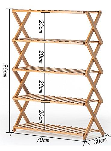 Wooden flower rack / indoor multi-layer folding flower rack / shoe rack / balcony living room flower pot shelf ( Size : 703096cm ) by Flower racks - xin