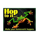 ARGUS Hop To It Make Your Homework Poster (1 Piece), 13.38