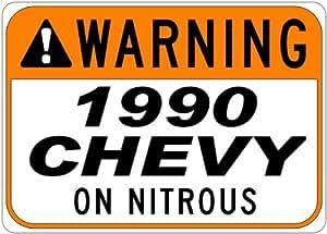 1990 90 CHEVY CORVETTE C4 Seat Belt Warning On Nitrous Aluminum Street Sign - 10 x 14 Inches