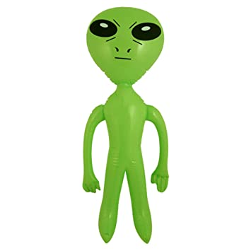 Blue Banana Alien o Extraterrestre Verde Inflable - 64 cm: Amazon ...